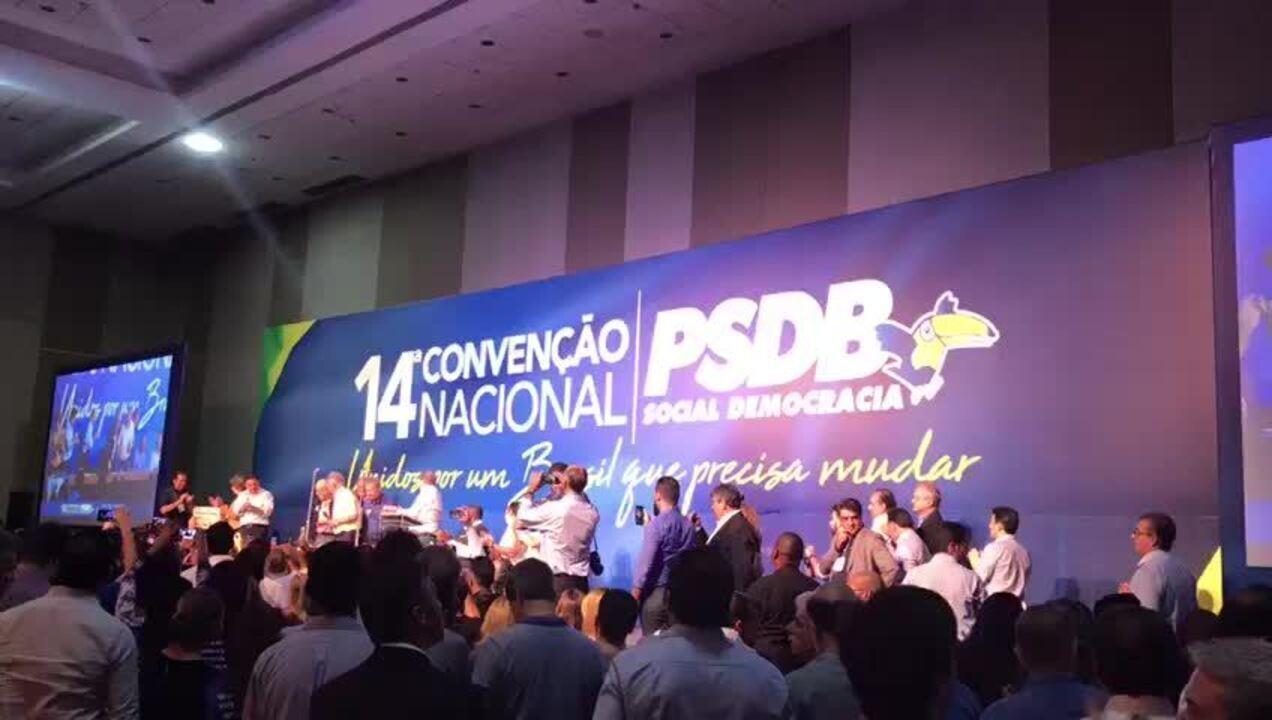 Alckmin é anunciado em convenção do PSDB presidente do partido