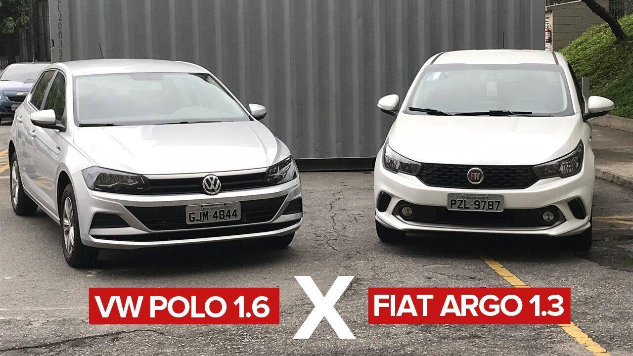 d97d5d69db Volkswagen Polo 1.6 x Fiat Argo 1.3  comparativo