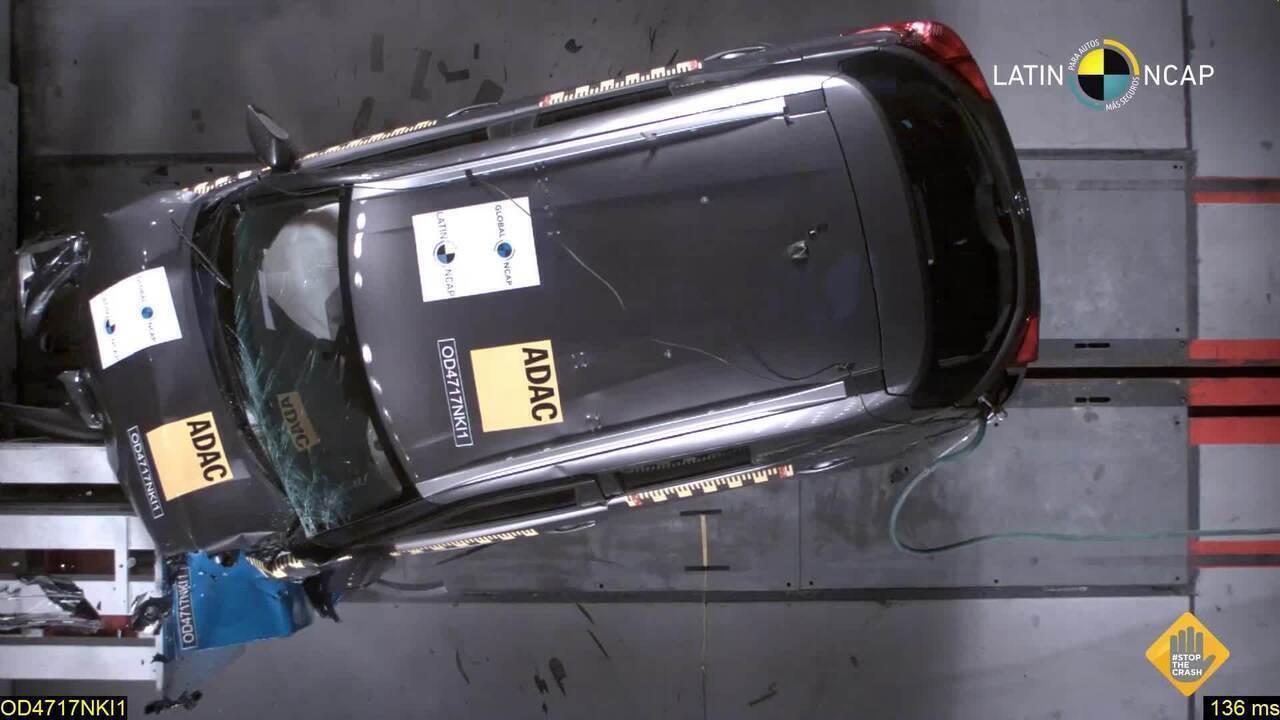 Nissan Kicks recebe 4 estrelas em teste de colisão do Latin NCap
