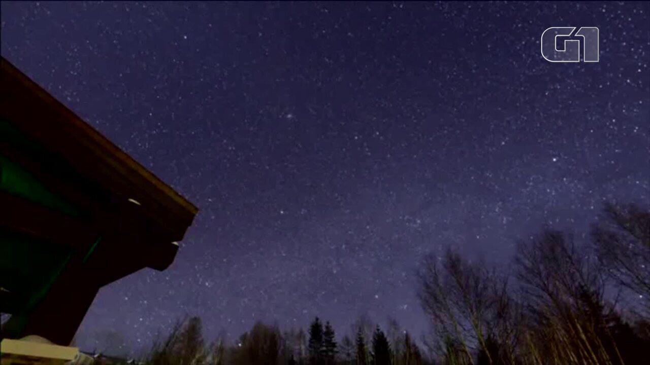 Chuva de meteoros da constelação de Gêmeos ilumina o céu da China