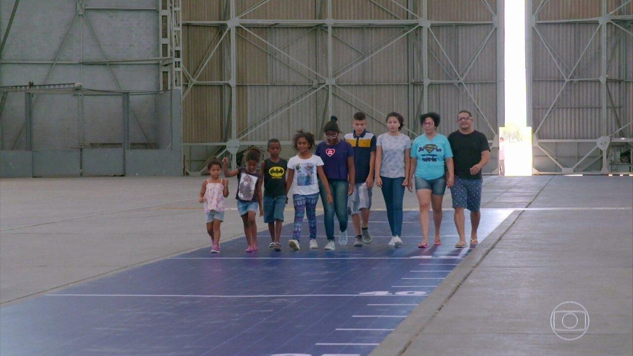 Reinaldo e sua família participam da prova do 'Lar Doce Lar'