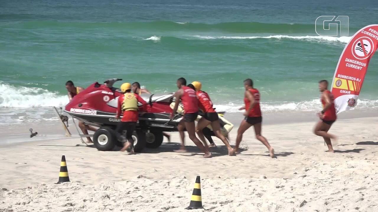 G1 acompanha a rotina de treinamentos dos guarda-vidas do Rio