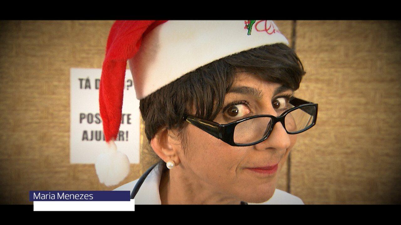 A atriz Maria Menezes dá dicas de como não ficar no vermelho após as compras de Natal