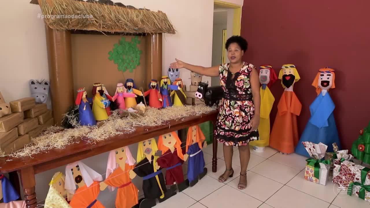 Presépio ecológico faz alegria das crianças em Teresina