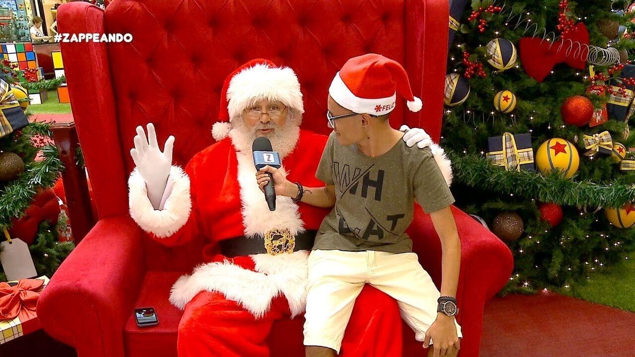 #Zapp: Dieguinho conhece um Papai Noel pra lá de conectado