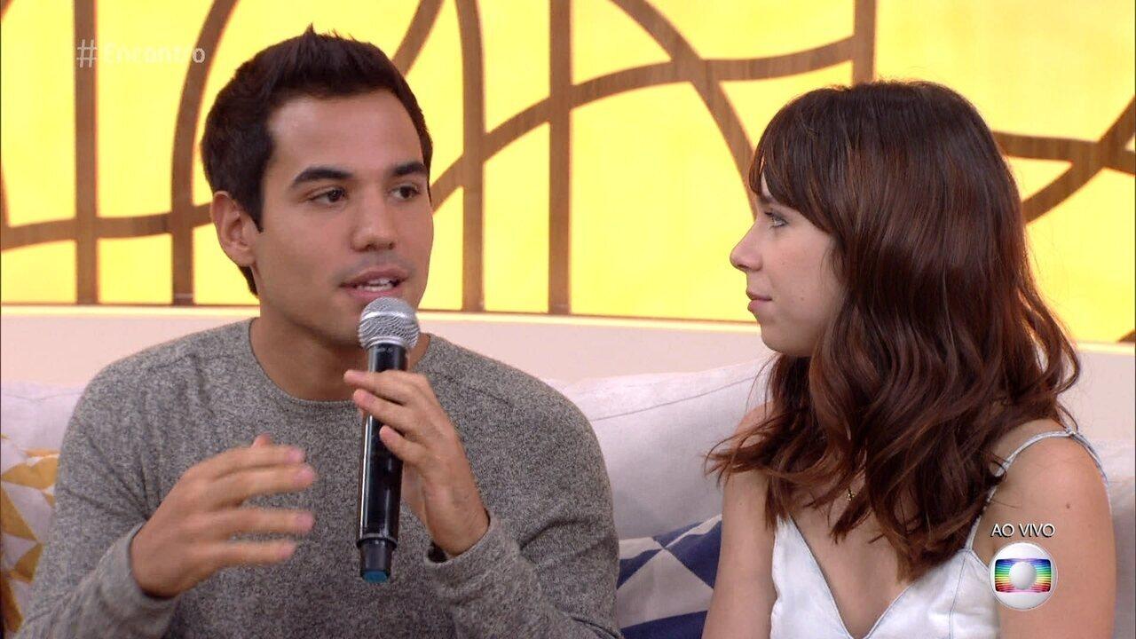Bruno Gadiol e Daphne Bozaski falam sobre o sucesso do casal 'Gunê'