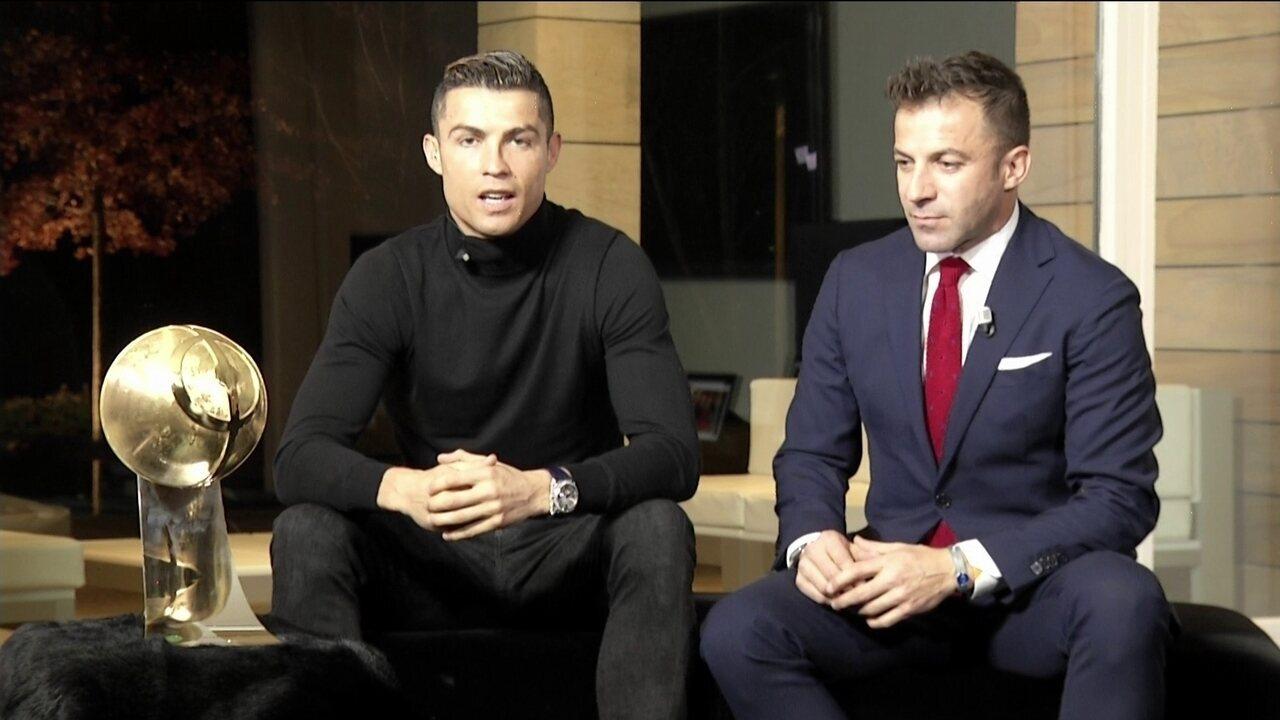 eb52792145 Cristiano Ronaldo vence prêmio de melhor jogador do ano no Globe Soccer  Awards