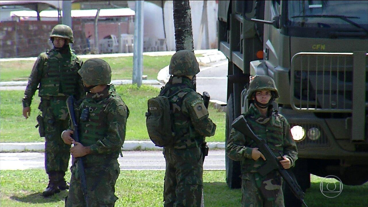 Forças Armadas começam a patrulhar as ruas do Rio Grande do Norte