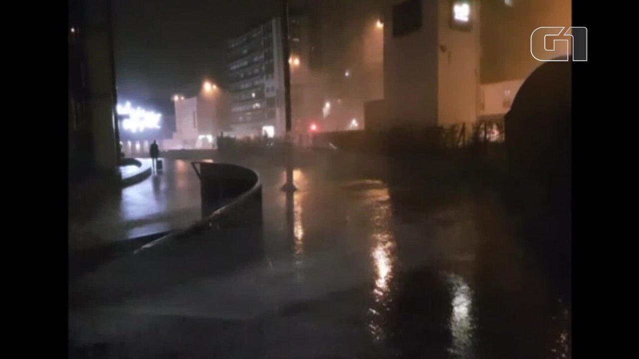 Tempestade Eleanor causa estragos na França