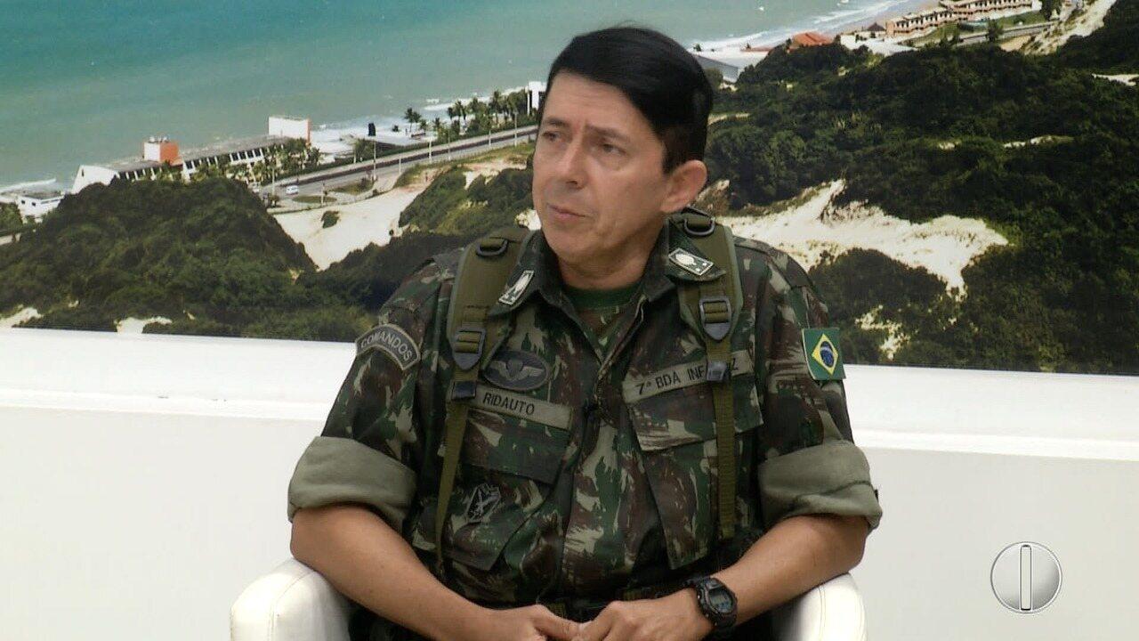Resultado de imagem para Índices de violência caem em Natal, diz comandante da operação do Exército no RN