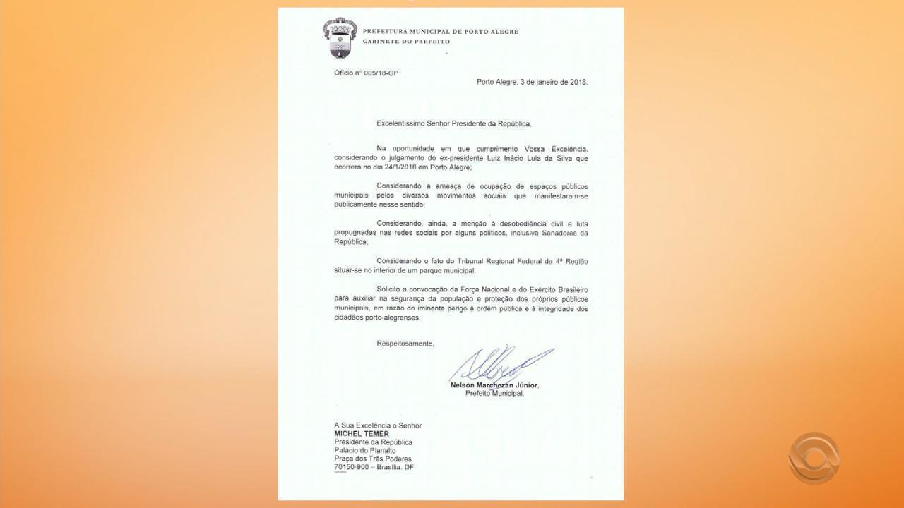 Resultado de imagem para Prefeitura pede reforço de segurança para julgamento de Lula.