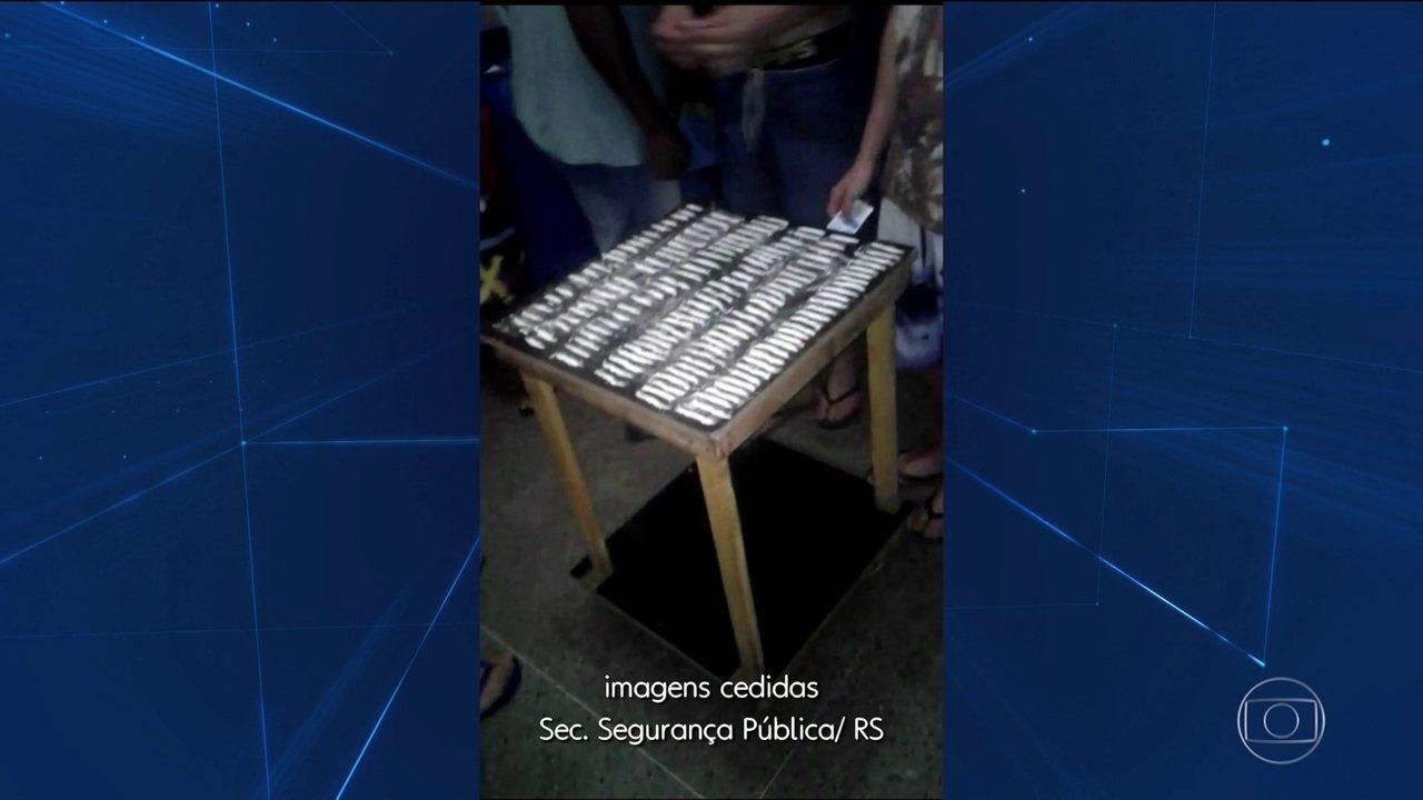 Vídeo mostra presos consumindo drogas em presídio de Porto Alegre