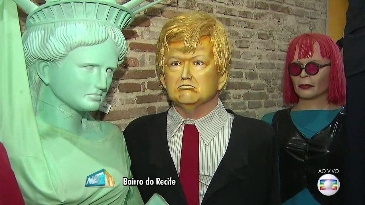 Às vésperas do carnaval, visita à Embaixada dos Bonecos Gigantes é uma dica de passeio