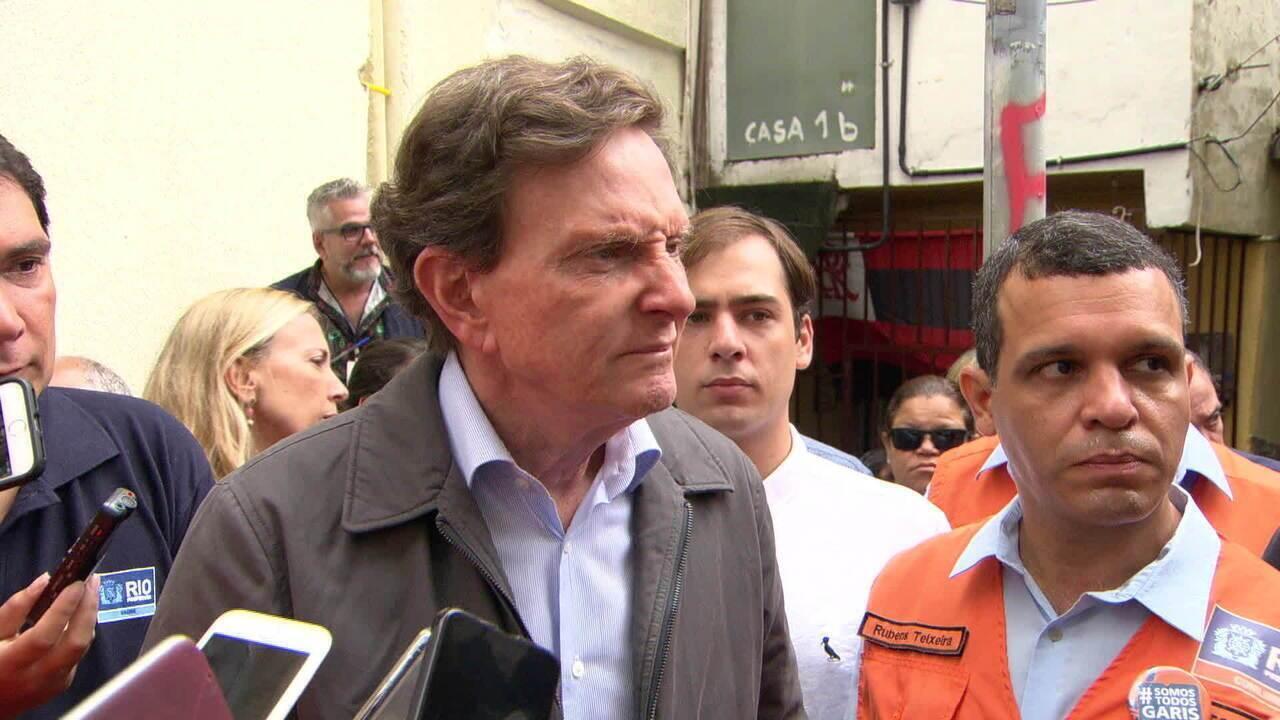 Crivella fala sobre o temporal no Rio
