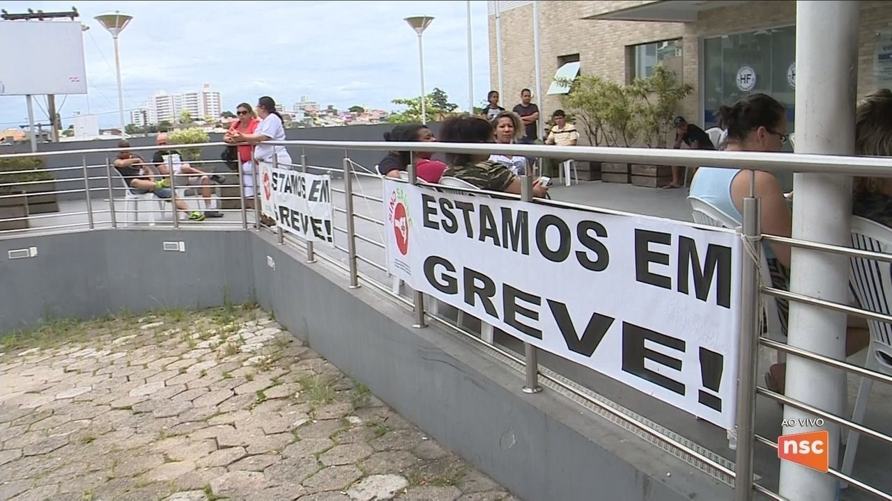 Servidores do Hospital Florianópolis paralisam atividades por causa dos salários atrasados