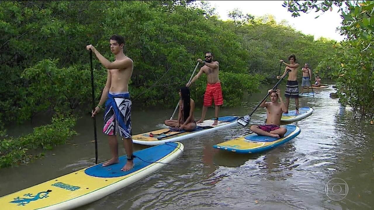 Stand Up Paddle em manguezal é sucesso no verão sergipano