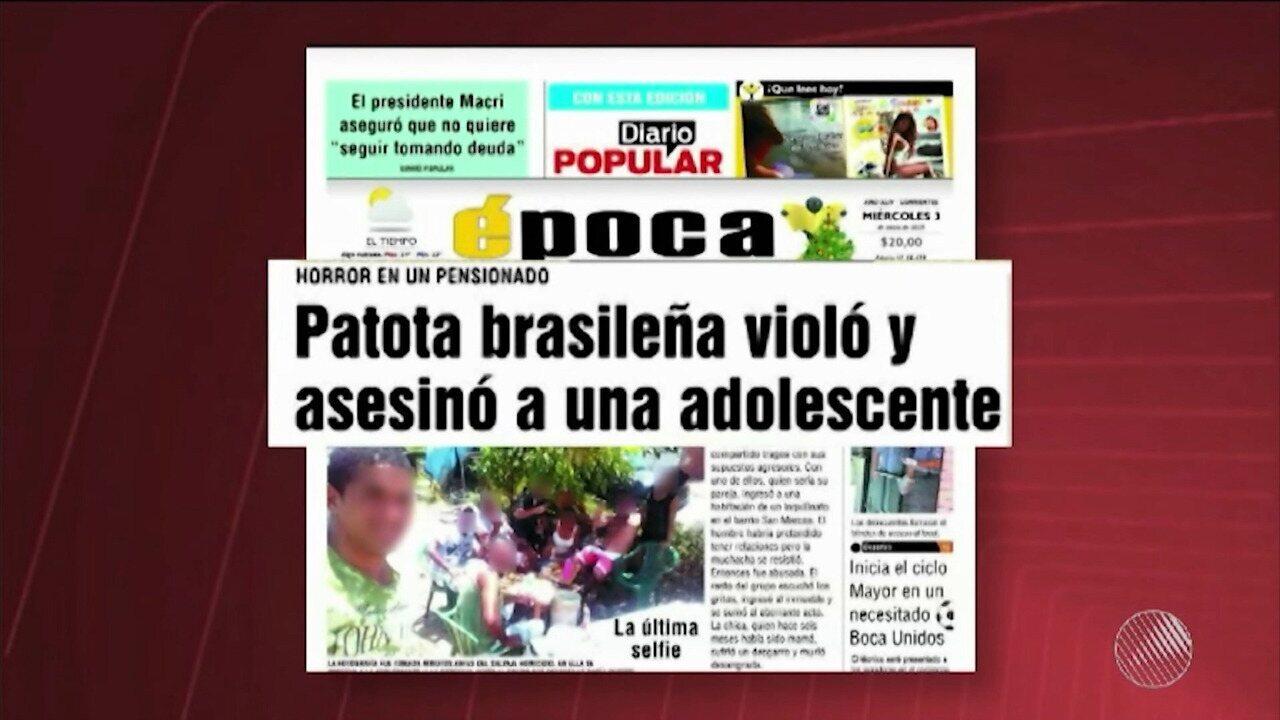 Jovem de Feira de Santana é preso na Argentina, acusado de estuprar e matar adolescente
