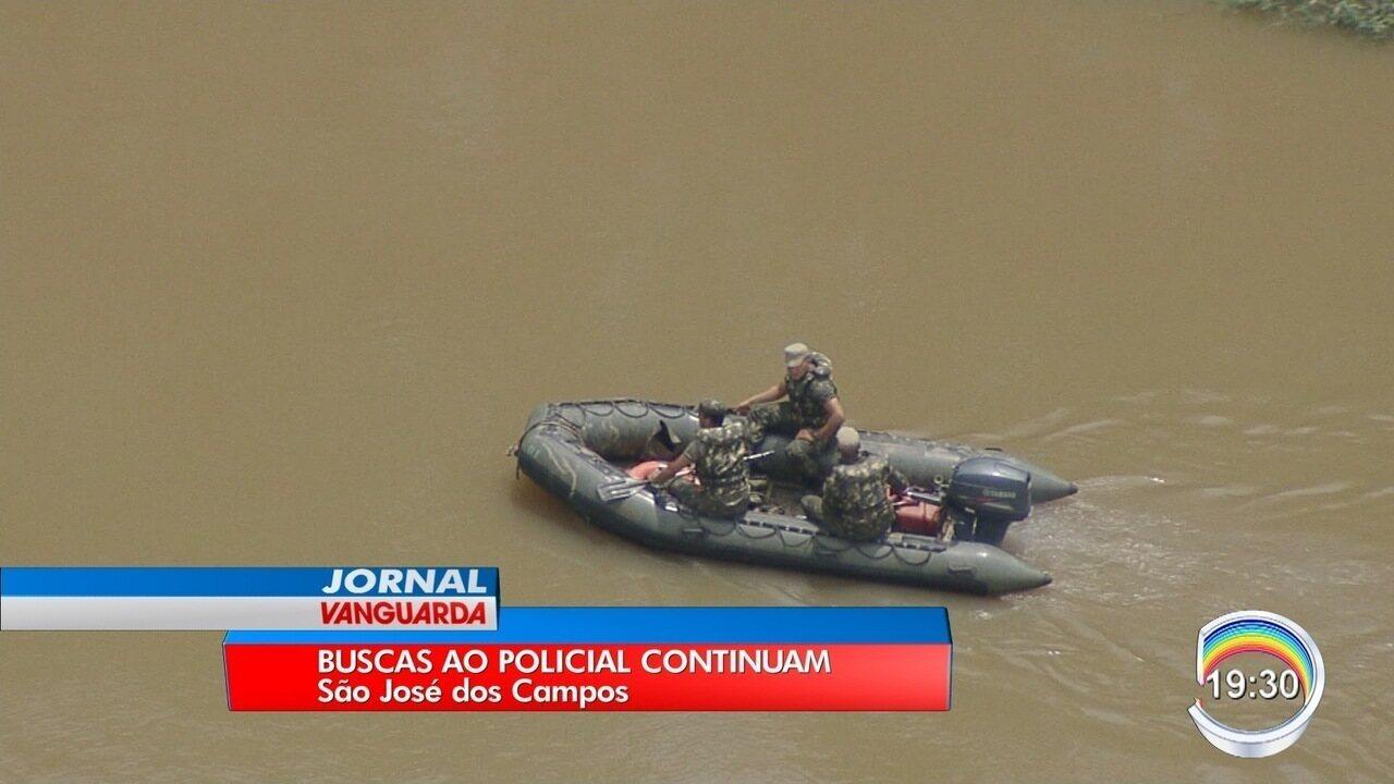 Quarta-feira foi mais um dia de busca ao policial desaparecido no rio Paraíba