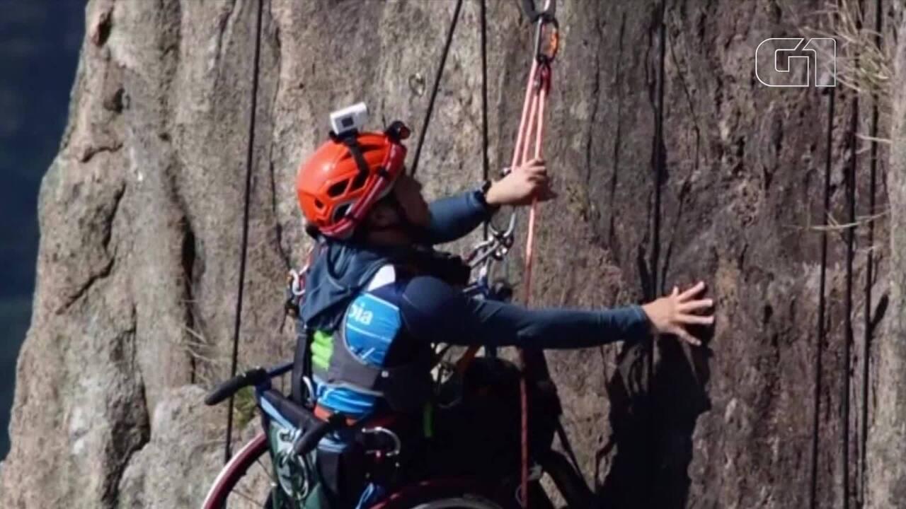 Resultado de imagem para Atleta cadeirante é indicado a prêmio após escalar montanha em Hong Kong