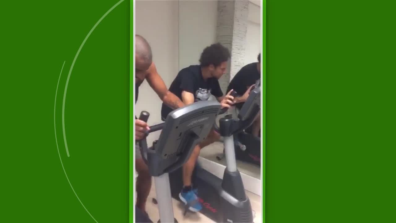 Willian Arão faz treinamento físico durante as férias no Flamengo