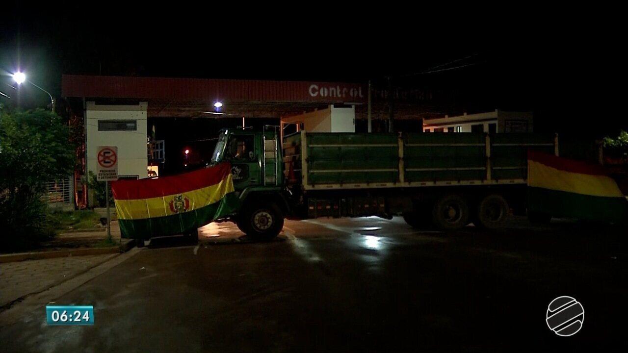 Fronteira com a Bolívia amanhece fechada pela terceira vez nesta semana