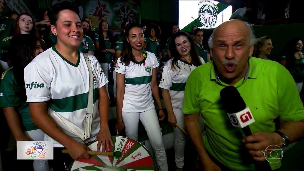 Mancha Verde aposta em jovens e time de mulheres para turbinar a bateria