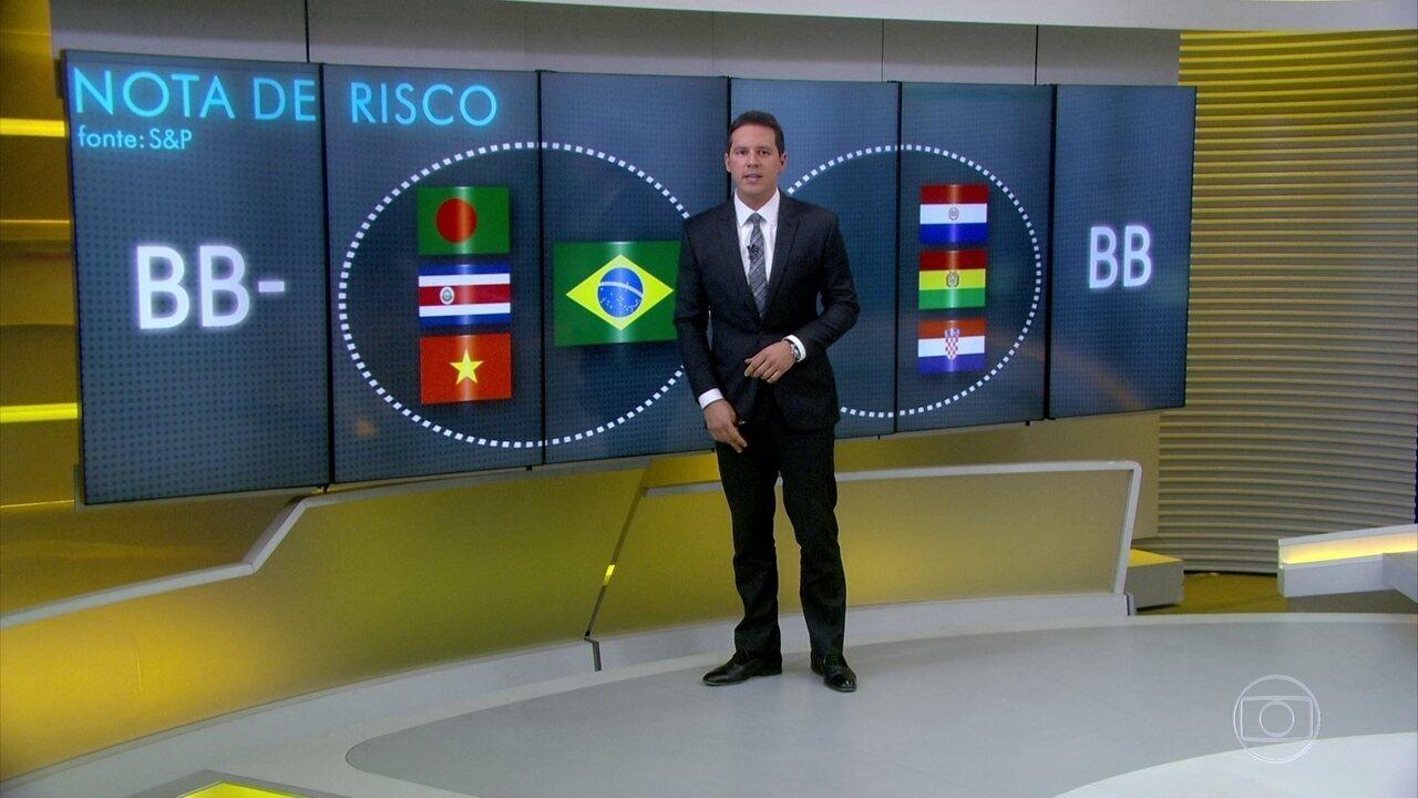 Brasil recebe inesperado rebaixamento na nota de risco
