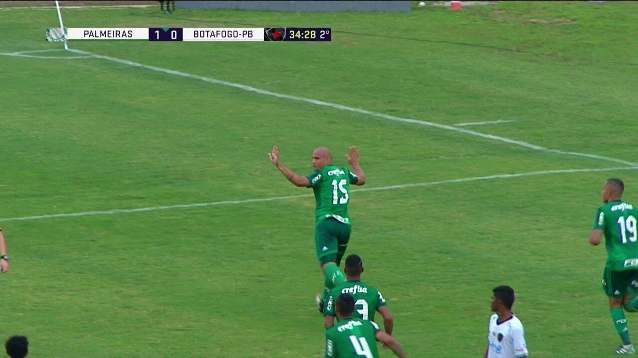 Gol do Palmeiras! Yan cruza na medida e Gabriel Furtado amplia de cabeça, aos 34 do 2º tempo