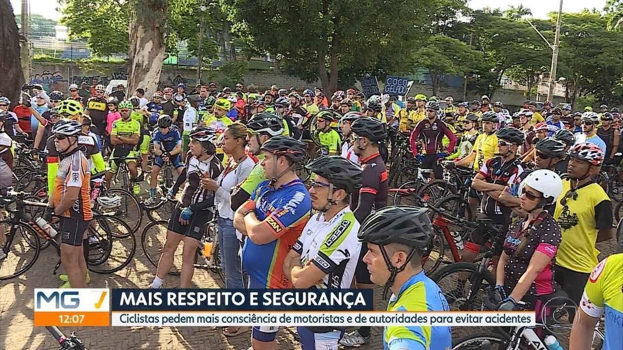 Após morte de ciclistas, grupo faz protesto sobre rodas em Belo Horizonte