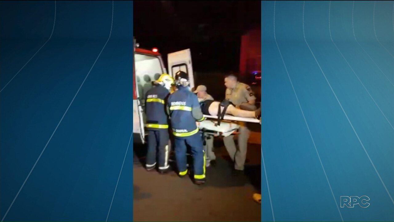 Seis pessoas ficam feridas em acidente entre carro e viatura dos Corpo de Bombeiros