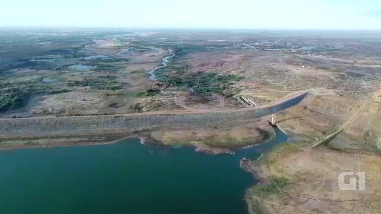Barragem Armando Ribeiro, a maior do RN, tem nível mais baixo da história