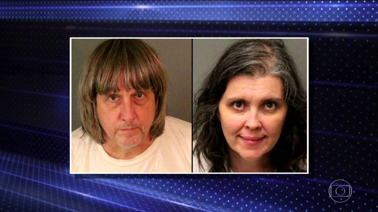Casal é preso na Califórnia por manter em cativeiro 13 pessoas que seriam filhos deles