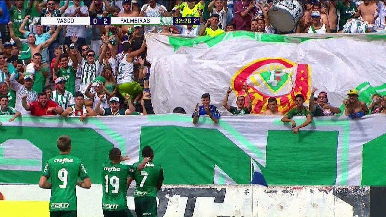 Os gols de Vasco 0 x 2 Palmeiras pelas oitavas de final da Copa SP de Futebol