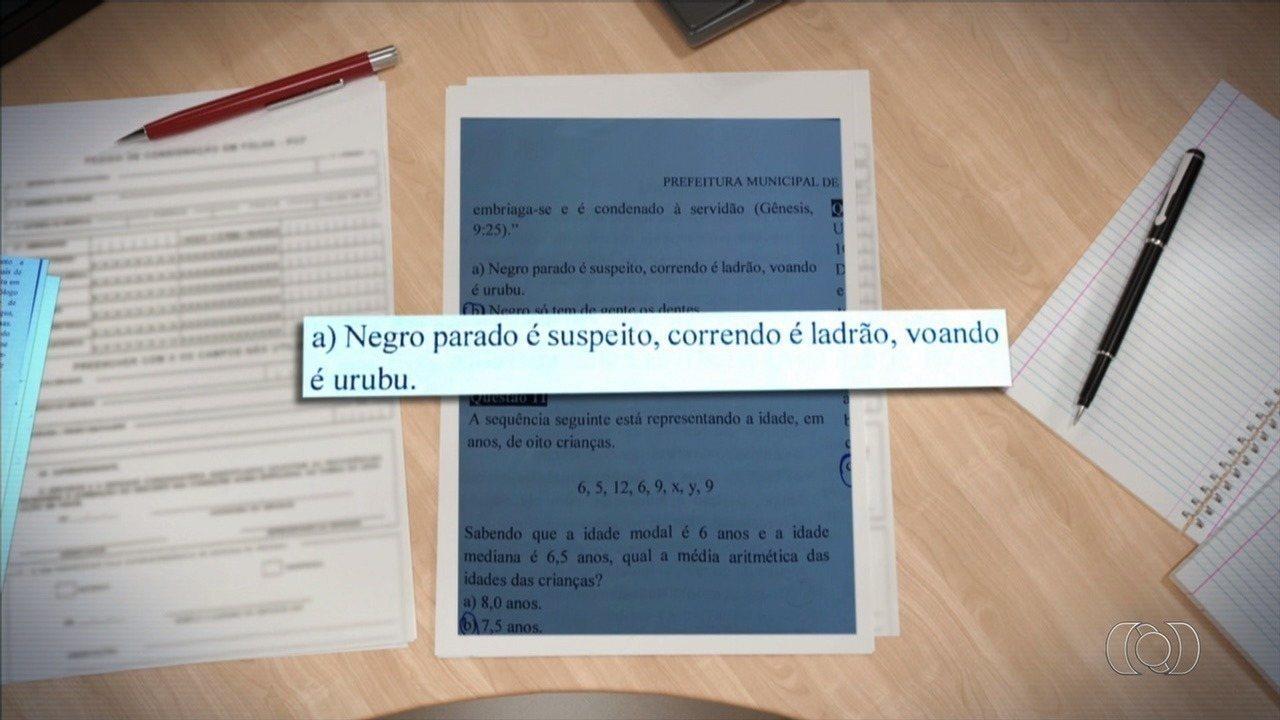 Questão de concurso público em Morrinhos associa texto bíblico a alternativas racistas