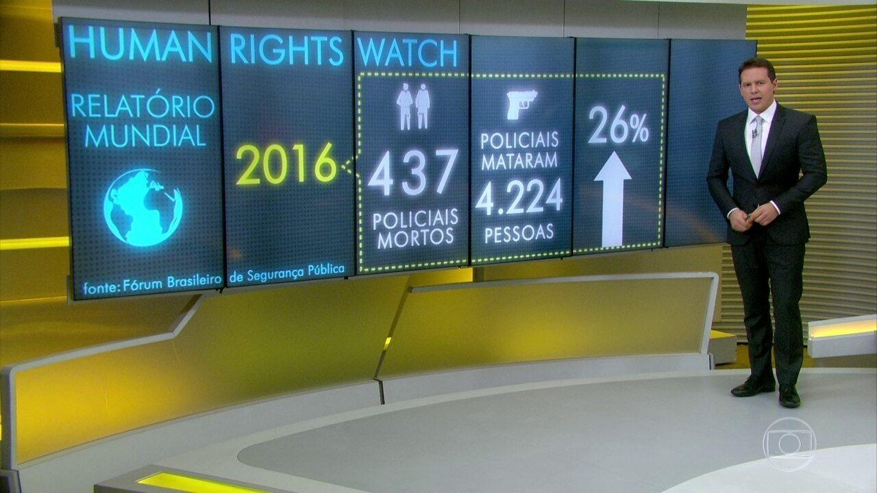 Relatório diz que policiais mataram mais de 4 mil no Brasil em 2016