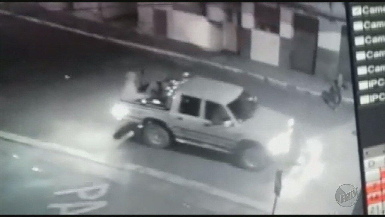 Imagens mostram ação de criminosos em ataque a banco em Santana do Jacaré (MG)