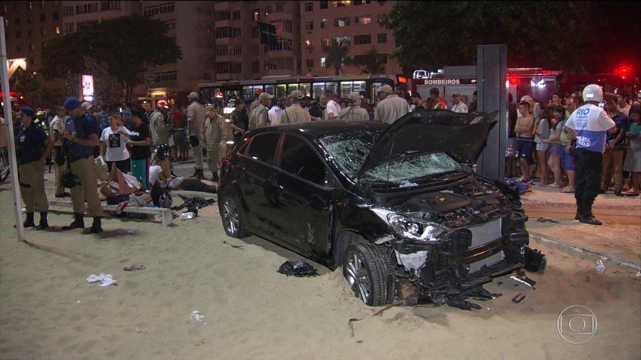 Bebê morre após carro invadir calçada em Copacabana (RJ)