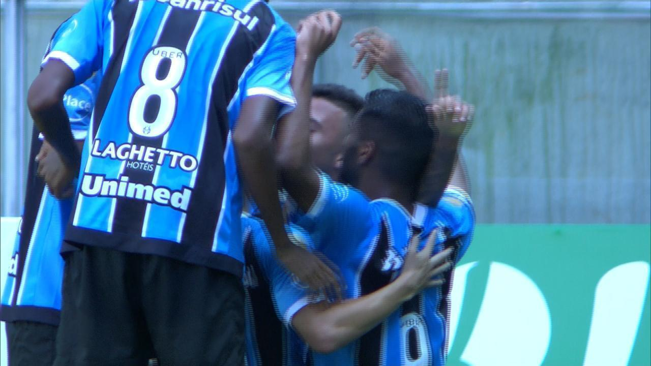 Veja um dos gols de Matheus Henrique no Gauchão