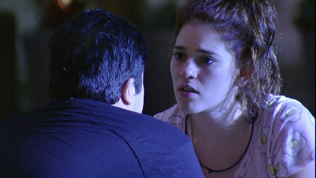 Ana Clara é direta com Jorge: 'A gente não tem certeza de nada'