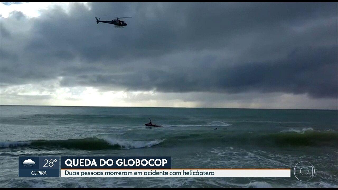 Globocop cai na orla da Zona Sul do Recife e deixa dois mortos