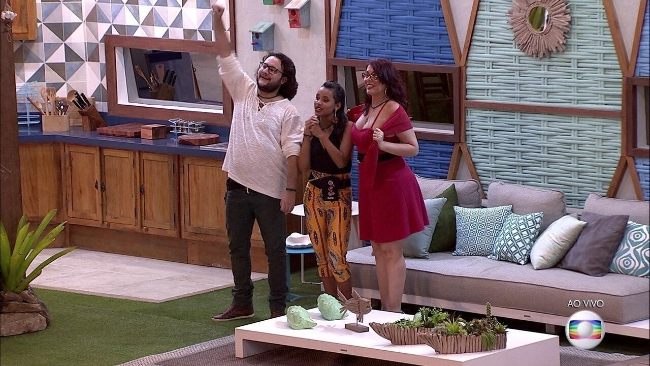 Mara, Diego, Paula e Gleici estão no Tá com Tudo e podem disputar a Prova do Líder