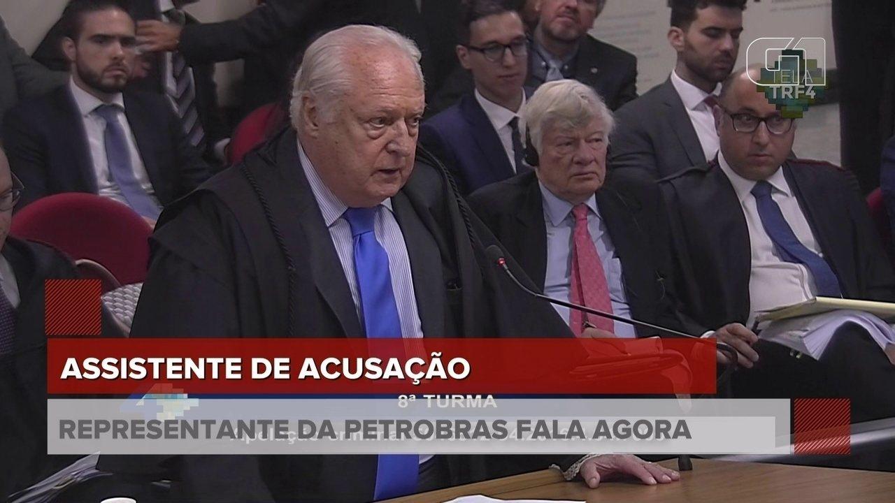 Assistente de acusação da Petrobras discursa no julgamento de Lula