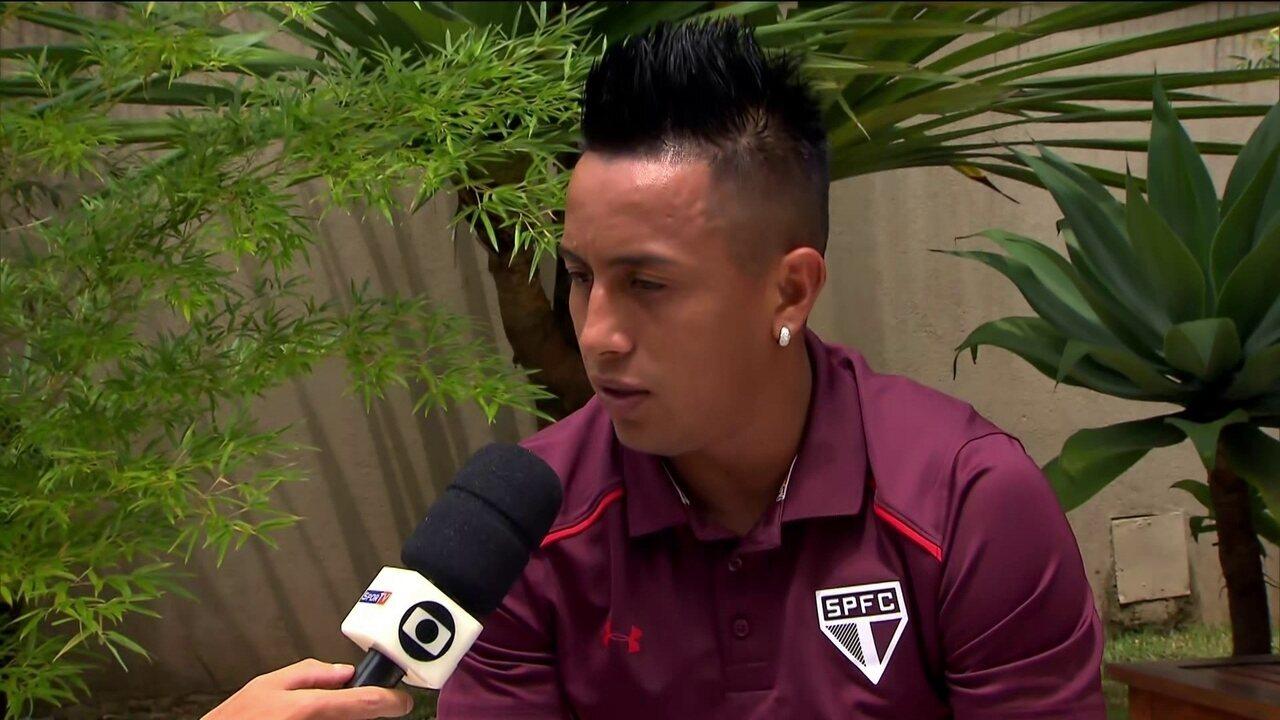 Cueva decide seu destino no São Paulo nesta segunda