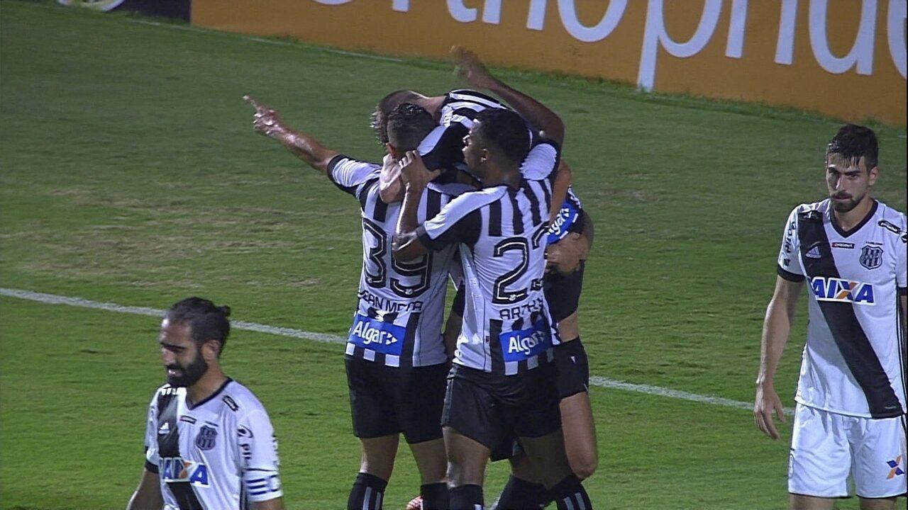 Gol do Santos! Eduardo Sasha aproveita cruzamento e empata para o Santos contra a Ponte