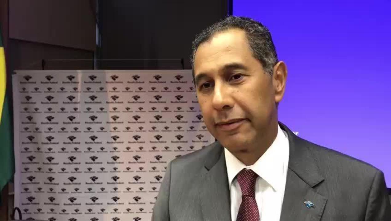 Claudemir Malaquias, da Receita Federal, comenta resultado da arrecadação em 2017