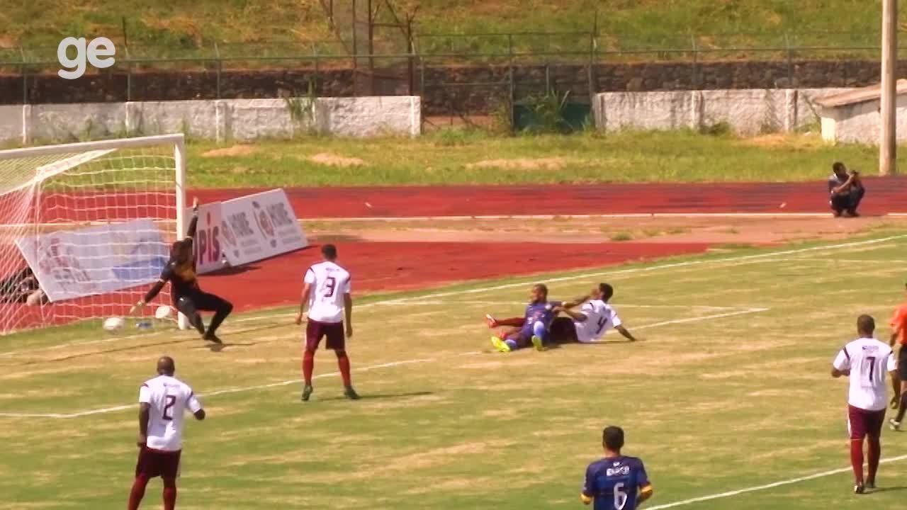 O gol de Paranoá 1 x 0 Santa Maria pelo Campeonato Brasiliense 2018