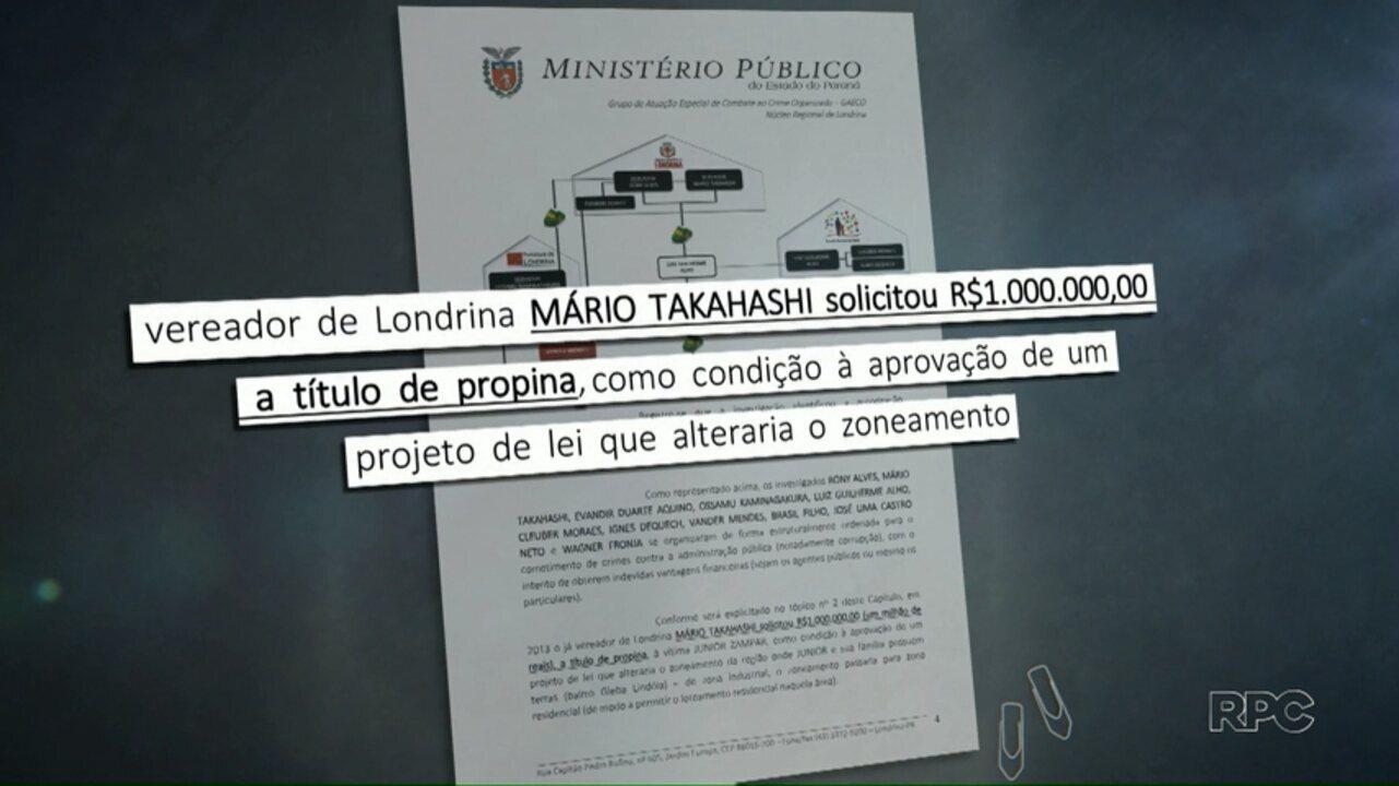 Segundo MP,  vereador Mário Takahashi cobrou R$1 milhão de proprina a empresário