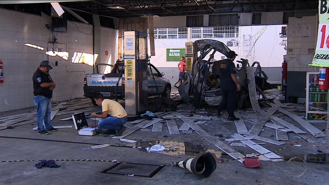 Explosão de gás veicular em posto de combustíveis deixa dois feridos em Aracaju