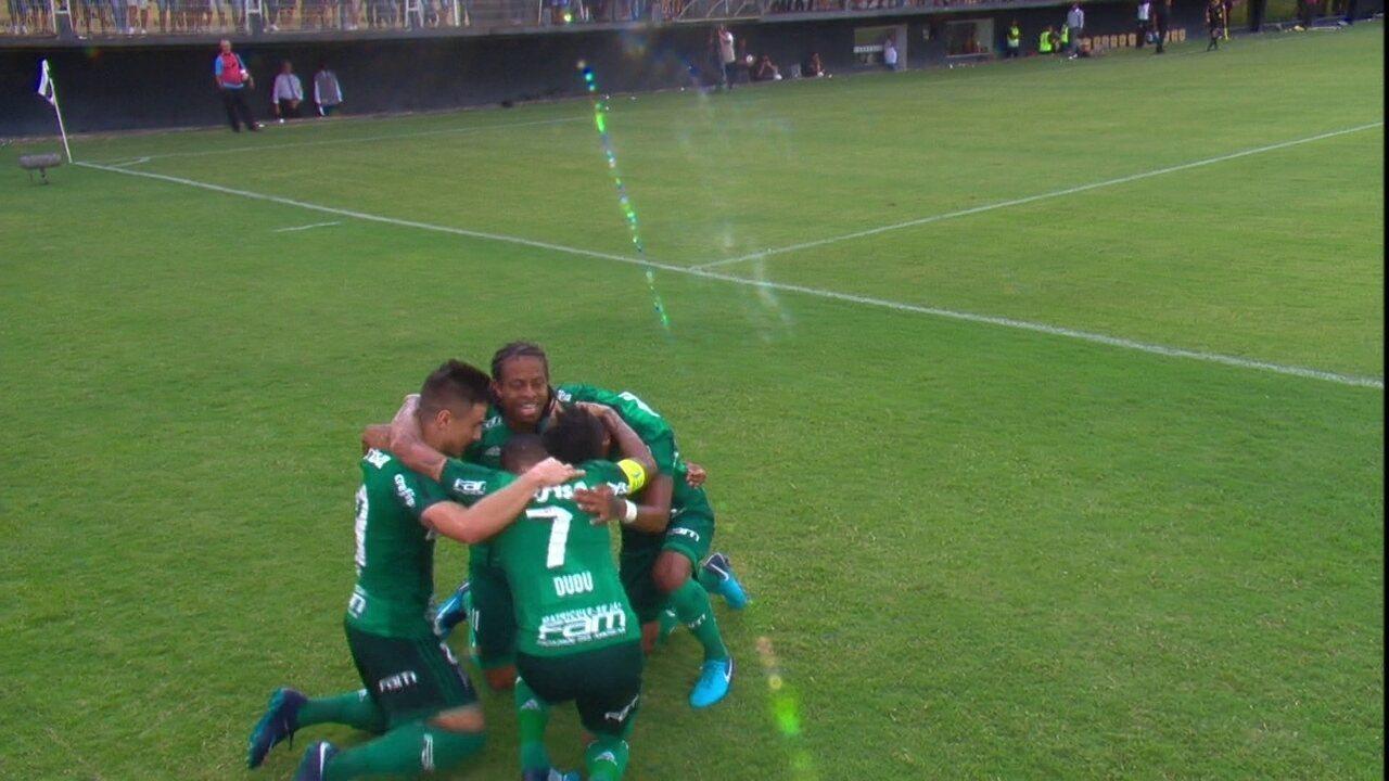 Gol do Palmeiras! Michel Bastos cruza e Keno completa de primeira aos 18' do 2º
