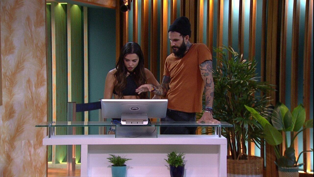 Wagner e Paula fazem as compras do Tá com Tudo